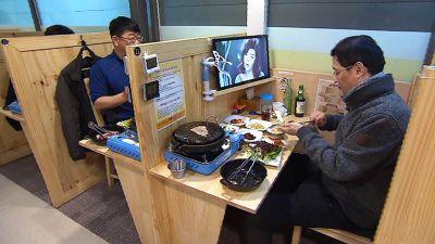 韓国で1人サムギョプサルが流行