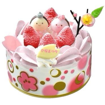 イオンひな祭りケーキ01