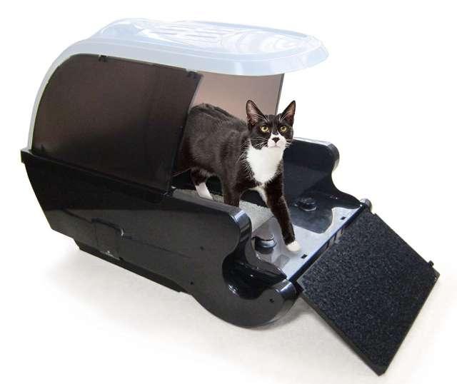 ネイチャーズミラクル 全自動猫トイレ カバー付 デラックス 活性炭フィルター消臭
