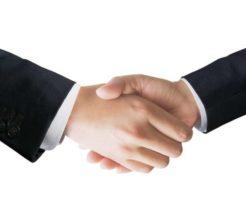 南北首脳の握手