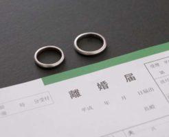 離婚届けと結婚指輪