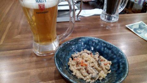 十条勝 生ビール&おから煮