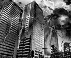 都心に大地震